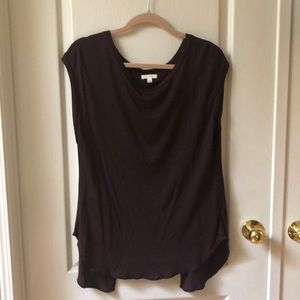 Aritzia burgundy wilfred t-shirt